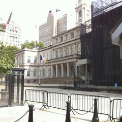 Photo taken at New York City Hall by Leo F. on 8/19/2012