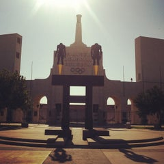 Photo taken at Los Angeles Memorial Coliseum by Bailey M. on 8/11/2012