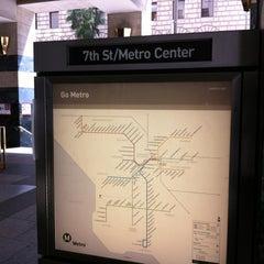 Photo taken at 7th St/Metro Center (Julian Dixon) Metro Station by Theron X. on 4/29/2012