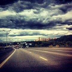 Photo taken at МКАД (Московская кольцевая автомобильная дорога) by Sash2030 on 9/7/2012