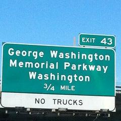 Photo taken at American Legion Memorial Bridge by Herb L. on 4/27/2012