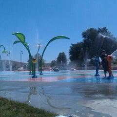 Photo taken at Lake Skinner Splash Pad by Chelsie on 6/5/2012