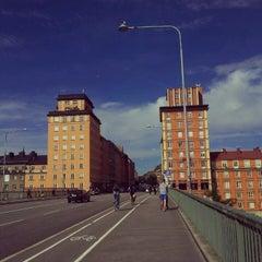 Photo taken at Sankt Eriksbron by yst on 8/20/2012