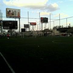 Photo taken at Fut 7 Premier (Rayados Escuela Oficial Mitras) by Miguel C. on 4/17/2012