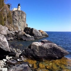 Photo taken at Split Rock Lighthouse by Steve O. on 4/11/2012