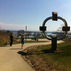 Photo taken at Sculpture @ McKinley Marina by Heidi P. on 3/18/2012