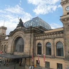 Photo taken at Dresden Hauptbahnhof by Martin O. on 9/5/2012
