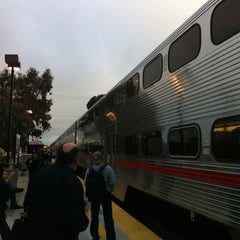 Photo taken at Hillsdale Caltrain Station by Jesse P. on 4/19/2012