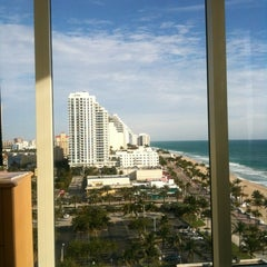 Photo taken at Courtyard by Marriott Fort Lauderdale Beach by Gerard M. on 2/12/2012