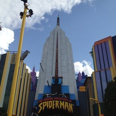 Photo taken at The Amazing Adventures of Spider-Man by Dianne C. on 2/27/2012