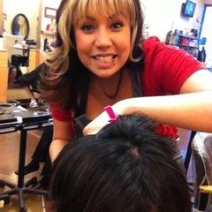 Photo taken at Elements Hair Studio by Dawn A. on 2/23/2012