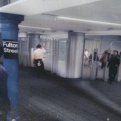 Photo taken at MTA Subway - Fulton St (A/C/J/Z/2/3/4/5) by Nicola D. on 2/4/2012