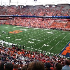 Photo taken at Carrier Dome by Leslie G. on 9/1/2012