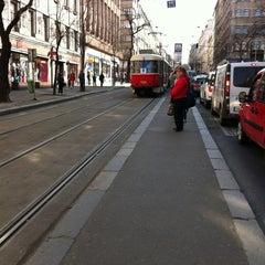 Photo taken at Štěpánská (tram) by Štěpán H. on 3/28/2012