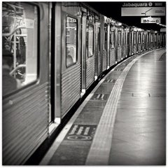 Photo taken at Estação Vila Mariana (Metrô) by Matheus S. on 4/30/2012