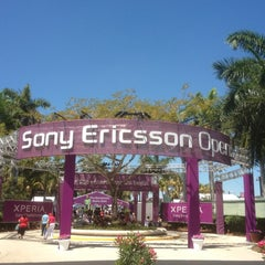 Photo taken at Grandstand Court - Sony Ericsson Open by Steve B. on 3/27/2012
