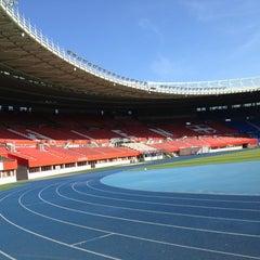 Photo taken at Ernst Happel Stadion by Alex J. on 5/18/2012