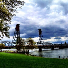 Photo taken at Hawthorne Bridge by Omarrr R. on 5/6/2012