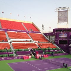 Photo taken at Khalifa International Tennis & Squash Complex by Mohammed A. on 2/16/2012