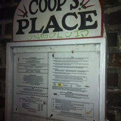 Photo taken at Coop's Place by Catalina G. on 4/6/2012