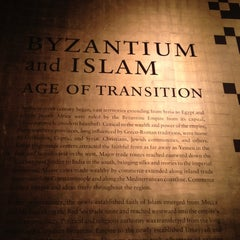 Photo taken at Byzantium and Islam: Age of Transition @ The Met by Amina F. on 6/28/2012