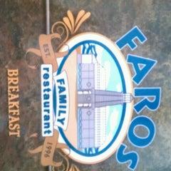 Photo taken at Faros Family Restaurant by Robert F. on 6/9/2012