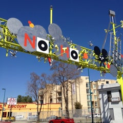 Photo taken at NoHo Sign by Kevin R. on 3/9/2012