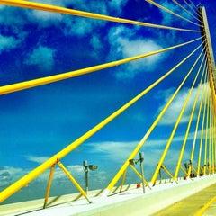 Photo taken at Sunshine Skyway Bridge by Lisa S. on 7/29/2012