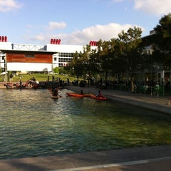 Photo taken at Discovery Green by Nikhil K. on 4/1/2012