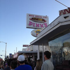 Photo taken at Pink's Hot Dogs by Donnie2PintZ on 4/8/2012