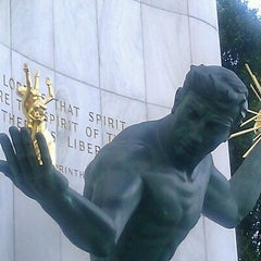 Photo taken at Spirit of Detroit by Stephen B. on 6/12/2012