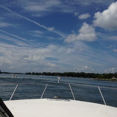 Photo taken at On The Boat At Belews Lake by Michele E. on 9/1/2012