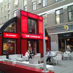 Photo taken at Red. Espresso Bar by nastya k. on 6/12/2012