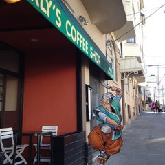 Photo taken at Curly's Coffee Shop by stephanie on 3/9/2012