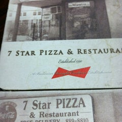 Photo taken at 7 Star Pizza by Justin W. on 2/23/2012