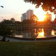 Photo taken at Parque Germânia by Thaís on 9/7/2012