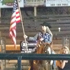 Photo taken at Buffalo Chip Saloon & Steakhouse by Katie W. on 4/28/2012