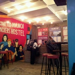 Photo taken at Hanoi Backpackers Hostel by Richelle Q. on 3/13/2012