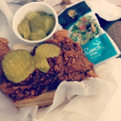 Photo taken at Prince's Hot Chicken Shack by Lauren Evelyn Anne on 4/23/2012