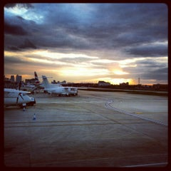 Photo taken at London City Airport (LCY) by Alex W. on 5/16/2012