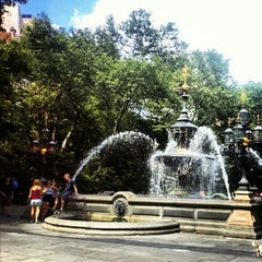 Photo taken at City Hall Park by Randy S. on 6/8/2012