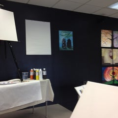 Photo taken at Wine And Canvas Art Studio by Courtney M. on 9/9/2012