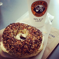 Photo taken at Einstein Brothers Bagels by Carli D. on 9/11/2012