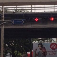 Photo taken at แยกลำสาลี (Lam Sali Intersection) by Pop V. on 8/29/2012