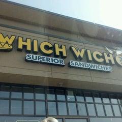 Photo taken at Which Wich? Superior Sandwiches by Heidi G. on 3/16/2012