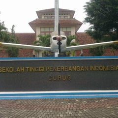 Photo taken at Sekolah Tinggi Penerbangan Indonesia (STPI) by Kusna W. on 9/4/2012