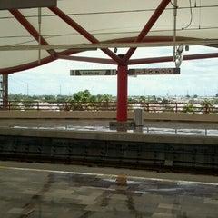 Photo taken at Metrorrey Estación Anáhuac by Edd on 8/13/2012