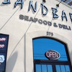 Photo taken at Sandbar Seafood, Deli, And Oyster Bar by Melissa H. on 4/9/2012