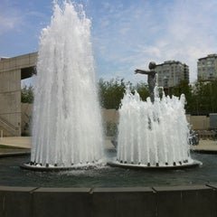 Photo taken at Father & Son Fountain by Chiaryn on 7/14/2012