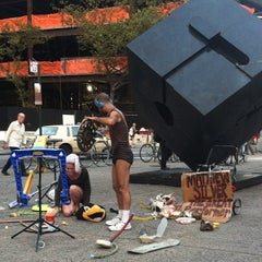 Photo taken at Astor Place by Jared H. on 9/12/2012